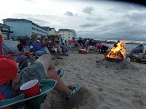 Beach party under way